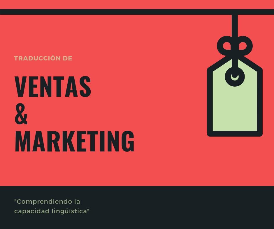 Traducción De Ventas Y Marketing